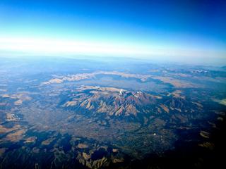 上空からの阿蘇カルデラ